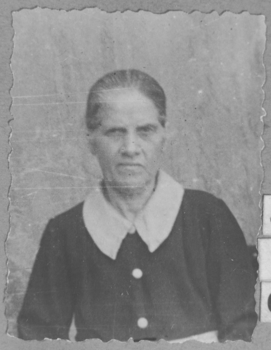 Portrait of Klara Pardo, wife of David Pardo.  She lived at Avramova 53 in Bitola.