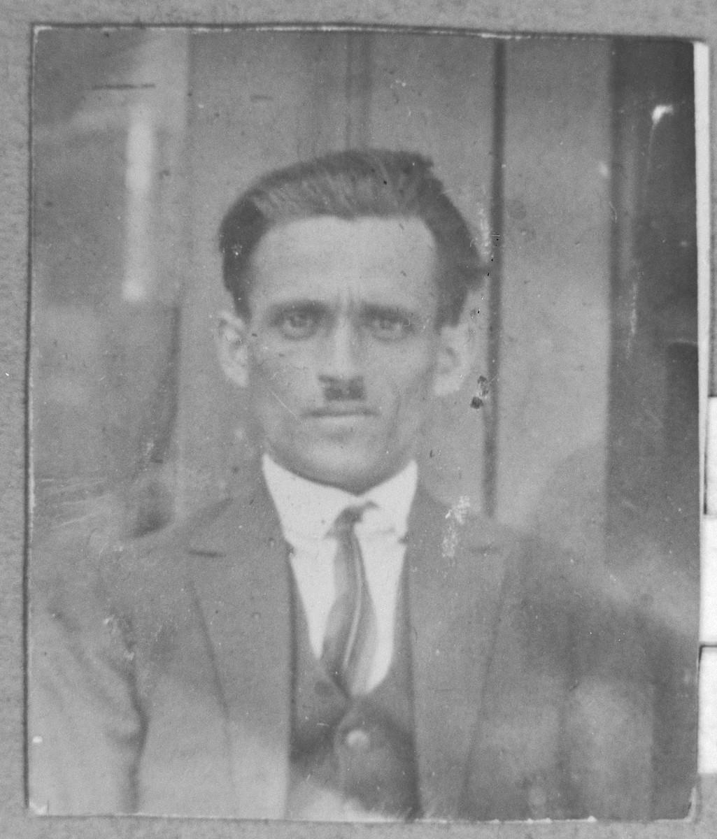 Portrait of Eliau Pardo (from Skopje), son of Bohor Pardo.
