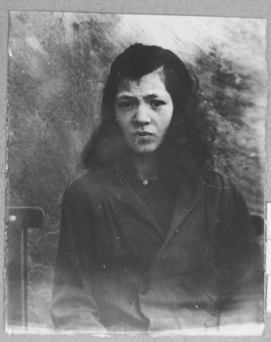 Portrait of Djamila Ovadia, daughter of Menachem Ovadia.  She was a student.
