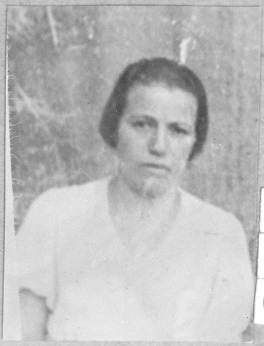 Portrait of Klara Pardo, wife of Gabriel Pardo.  She lived at Krstitsa 15 in Bitola.