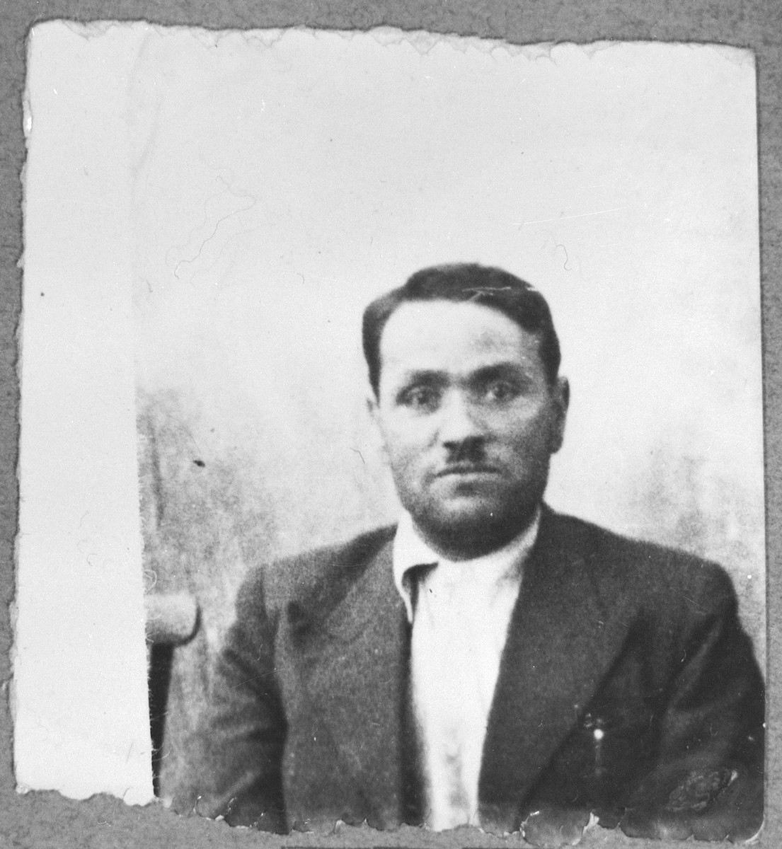 Portrait of Yakov Nissan, son of Avram Nissan.  He was a milkman.  He lived at Ferisovatska 34 in Bitola.