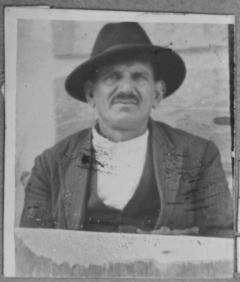 Portrait of Bohor Pardo.  He lived on Novatska in Bitola.