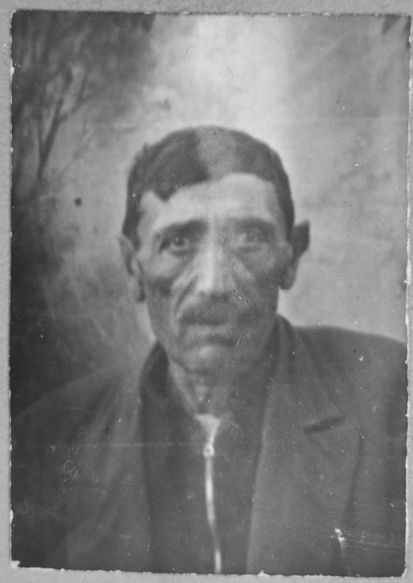Portrait of Bohor Ovadia.  He was a butcher.  He lived at Putnika 141 in Bitola.