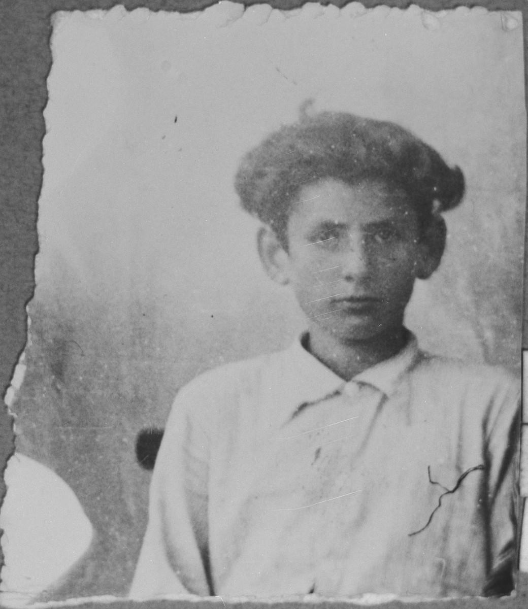 Portrait of Lazar Pardo, son of Bohor Pardo.  He lived at Novatska 8 in Bitola.