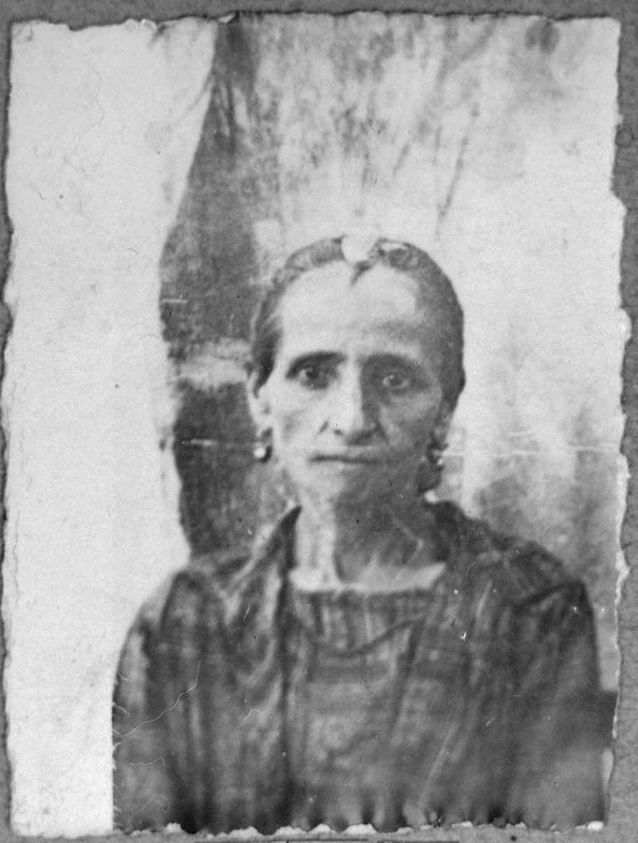 Portrait of Ester Nissan, wife of David Nissan.  She lived at Karagoryeva 89 in Bitola.
