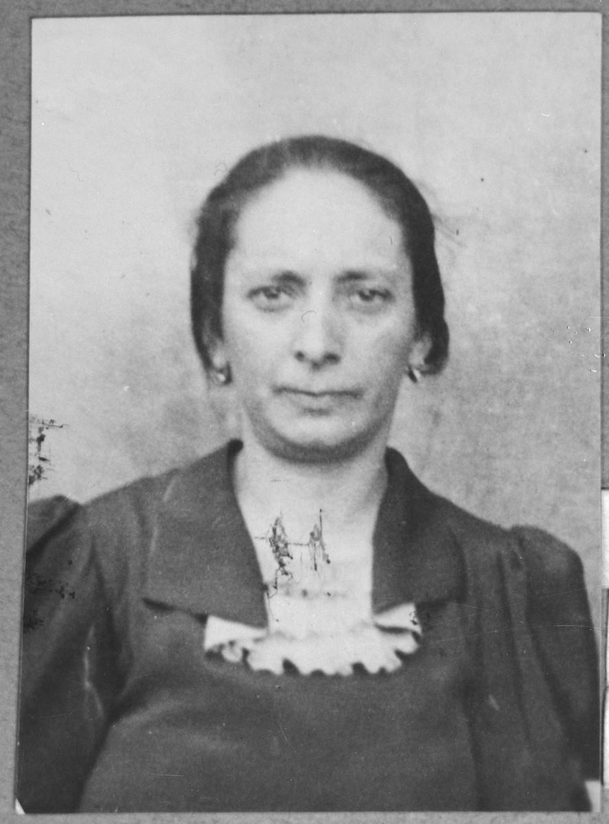 Portrait of Elvira Nachmias, wife of Isak Nachmias.  She lived at Dalmatinska 67 in Bitola.