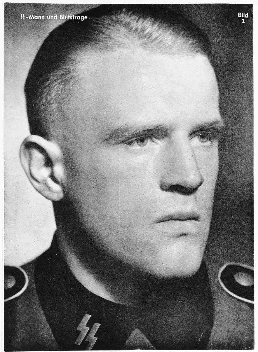 Racial portrait of an SS member.