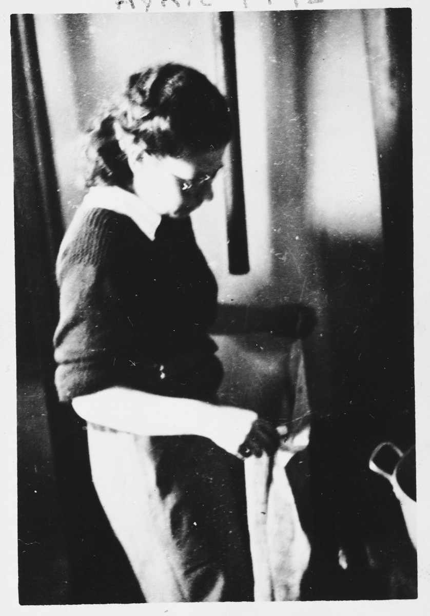 Portrait of French Jewish resistance leader, Marianne Cohn, at the mountain chalet retreat of the Armée Juive in Les Michallons.