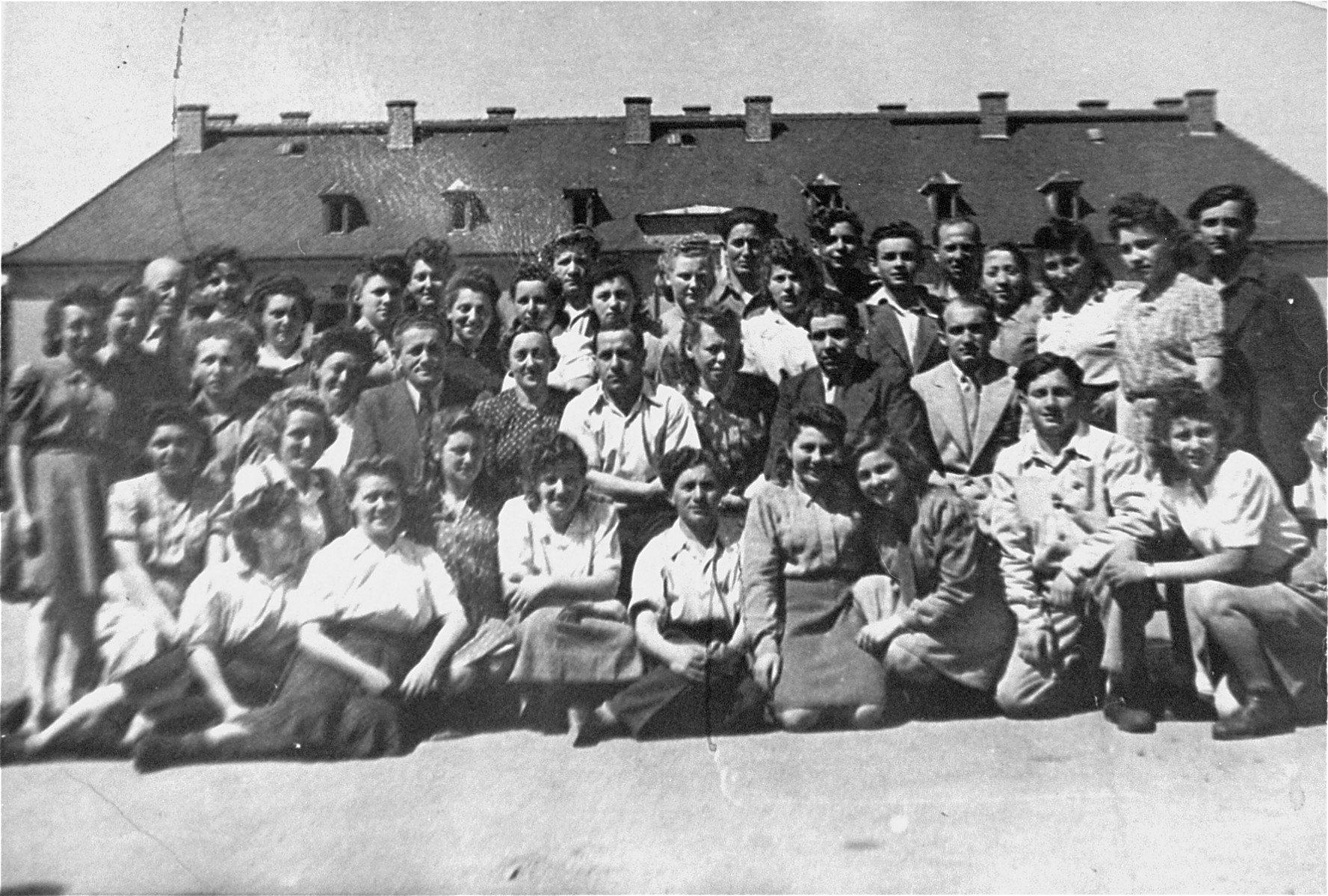 Group portrait of high school students in the Bergen-Belsen displaced persons camp.