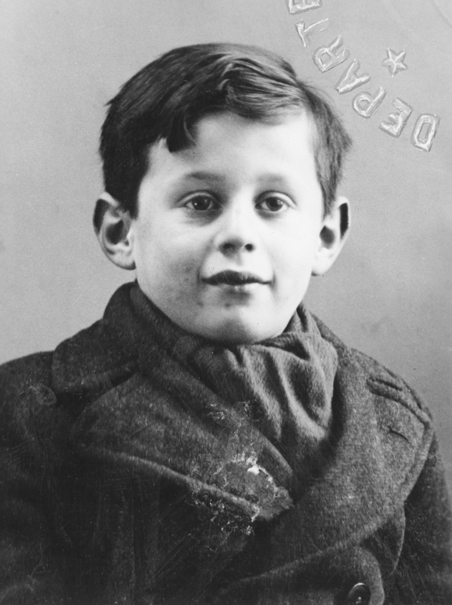 Portrait of a Jewish refugee child from Belgium who escaped with his family from occupied France into Switzerland in the fall of 1943.  Pictured is Markus Wajsfeld, now Mordechai Paldiel, Chairman of the Department of the Righteous of All Nations at Yad Vashem, Jerusalem.