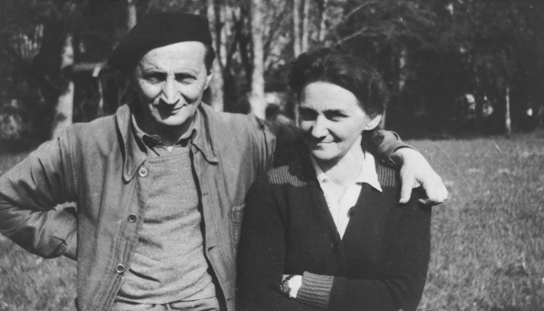 Portrait of Samuel and Ida Wetzler, Jewish associates of Joseph Fisera.  They were arrested but freed with Fisera's help.