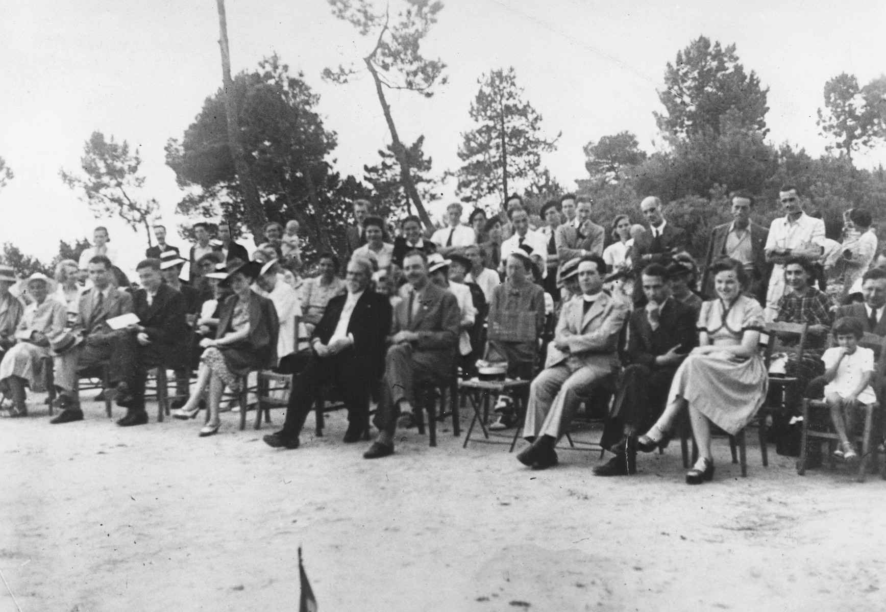 Inauguration of the MACE children's home in Vence.  Those pictureed include Colonel Henri Einesy, mayor of the town and protector of the home.