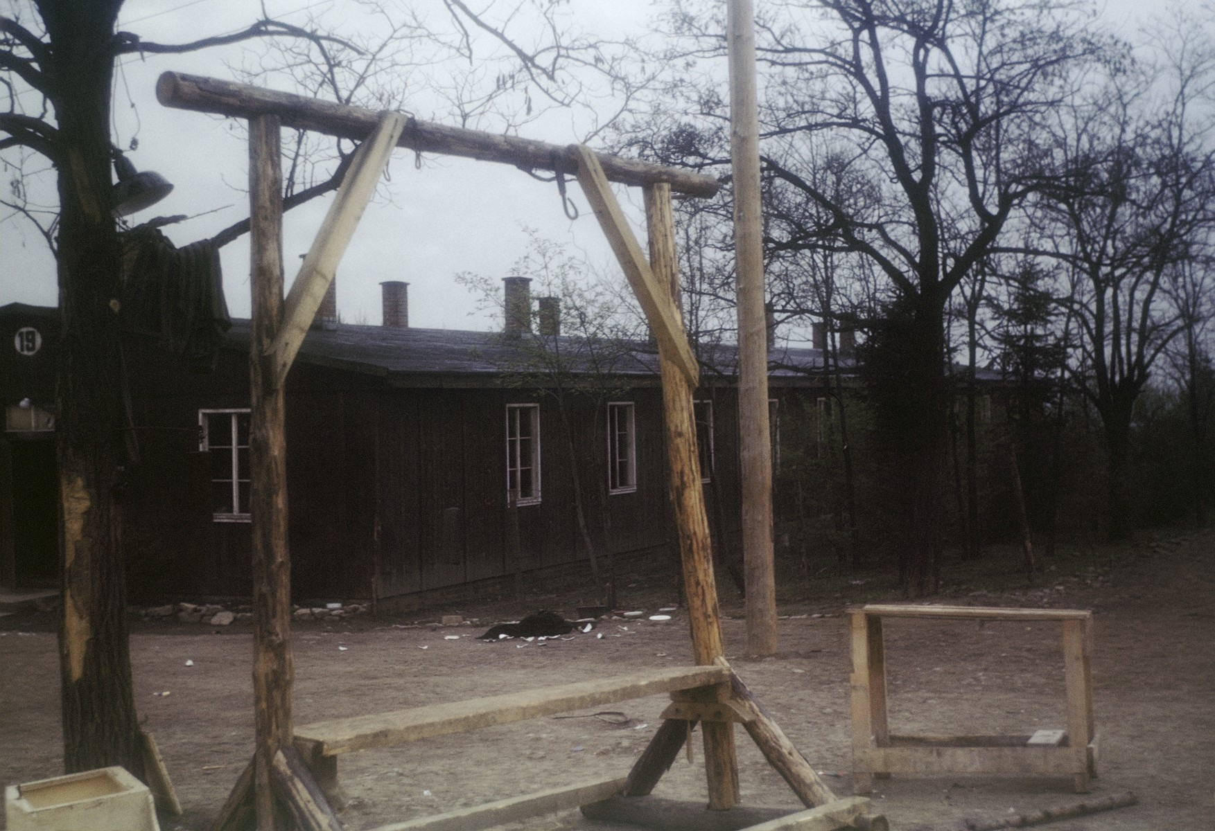 View of the gallows in the Ohrdruf concentration camp.