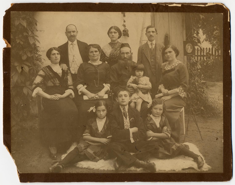 Studio portrait of a Jewish family in Drohobycz.