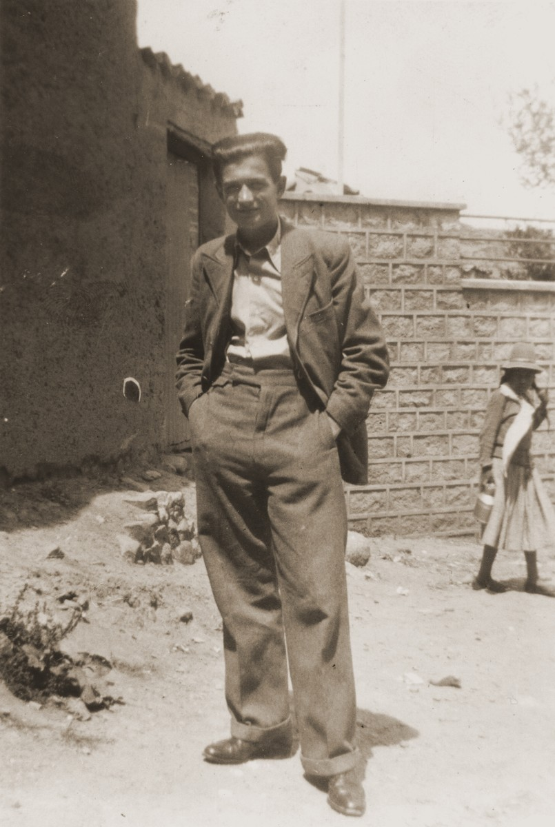 Julius Wolfinger, the donor's uncle, in La Paz, Bolivia.