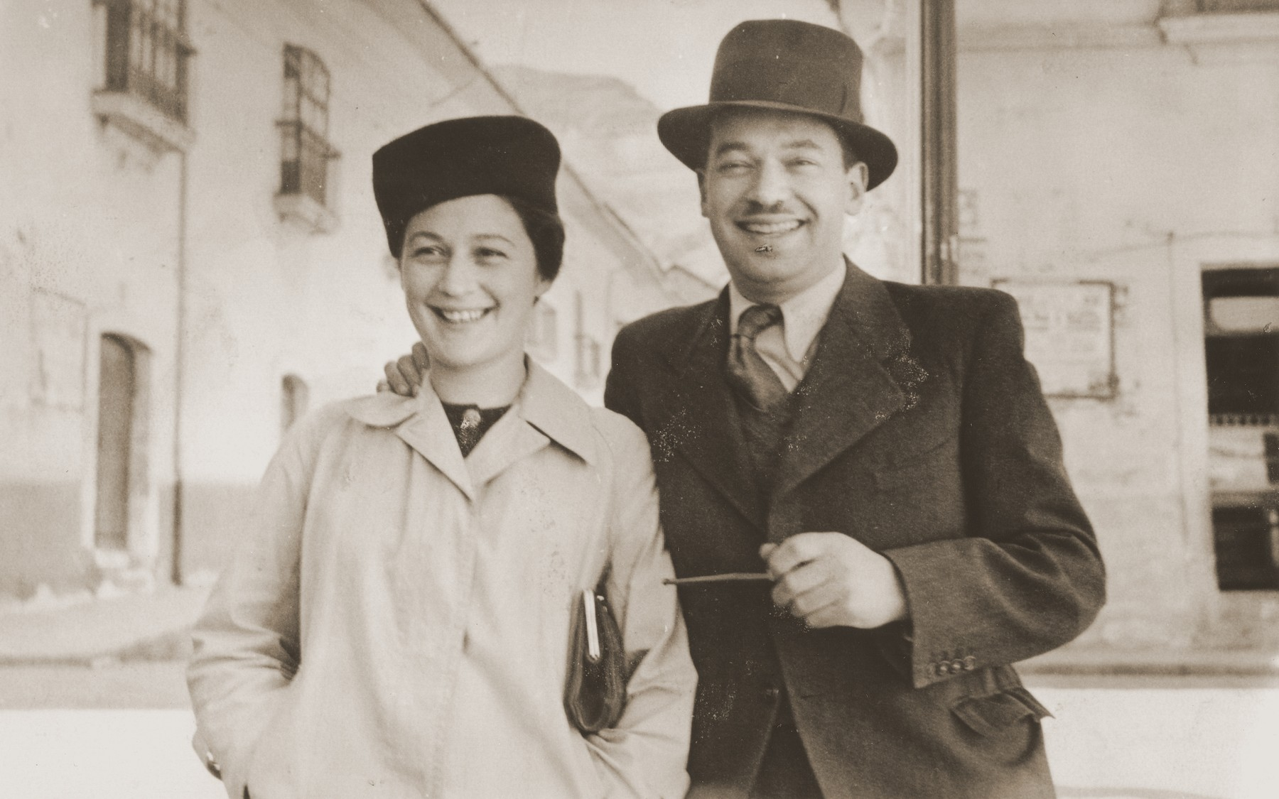 An Austrian refugee couple in La Paz, Bolivia.    Pictured are Alexander Reitzer and his wife, friends of the Spitzers.