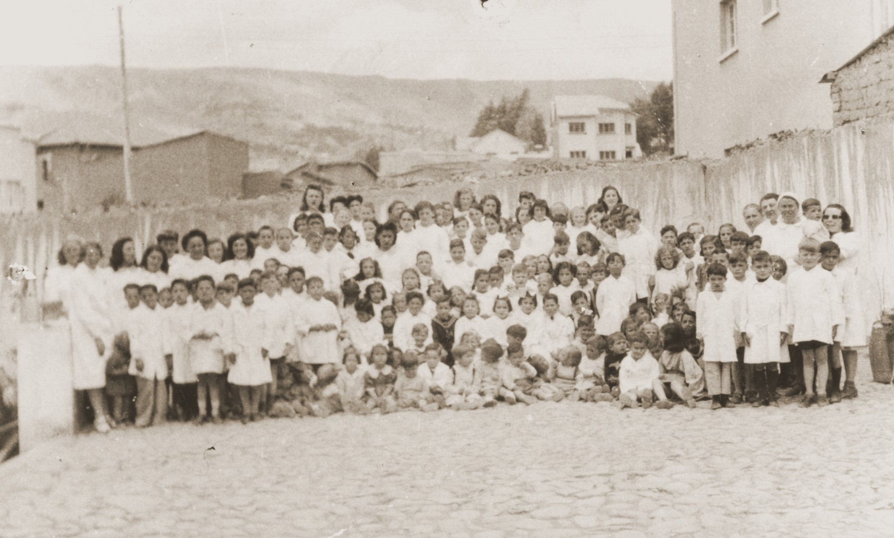 Kindergarten class of the Jewish Kinderheim in La Paz, Bolivia.  The Kinderheim was supported by funds from the JDC and SOPRO (Sociedad de protection immigrantes).