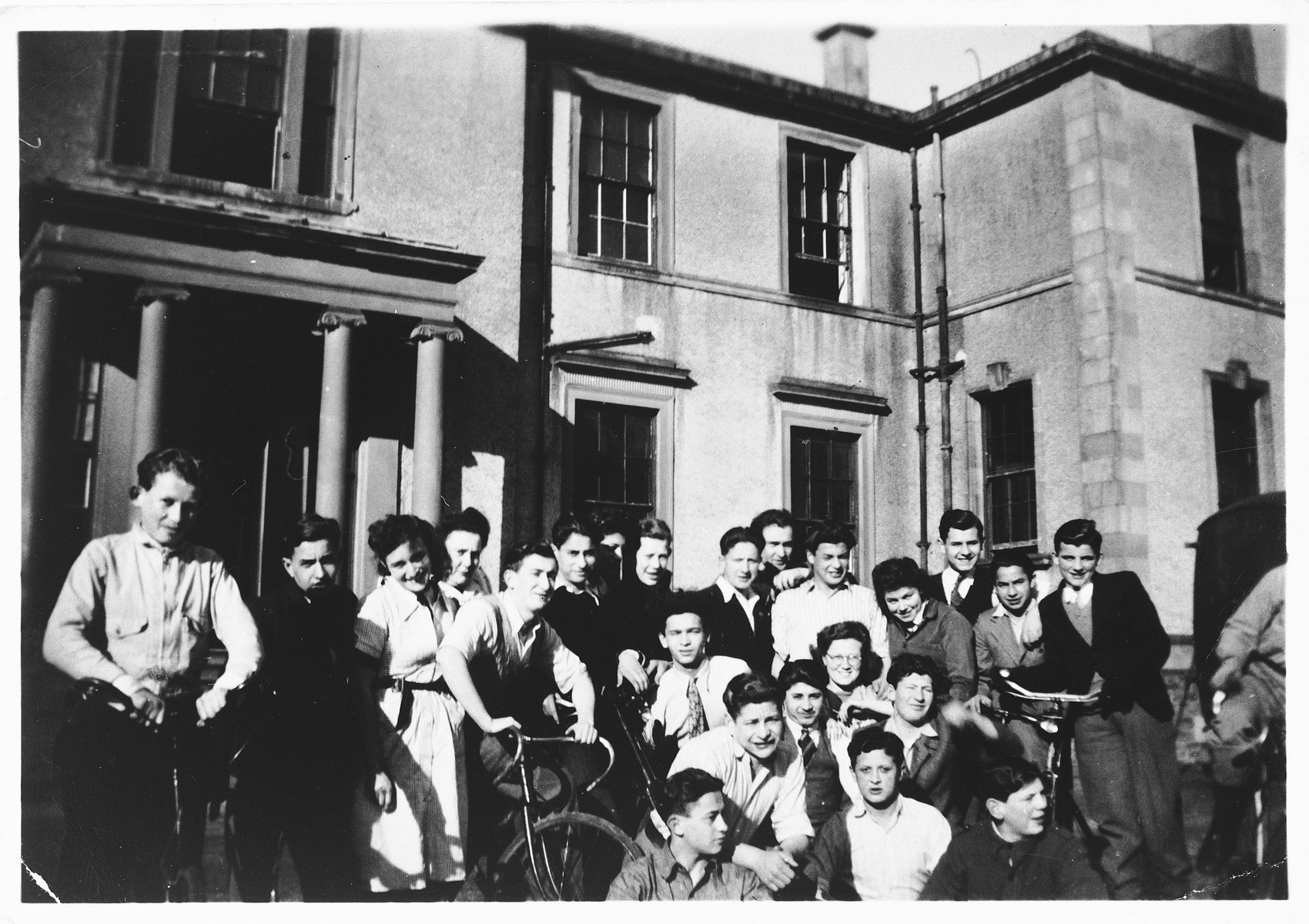 Group portrait of Jewish orphans who had been evacuated from Germany, in a children's home in Dumbarton, Scotland.
