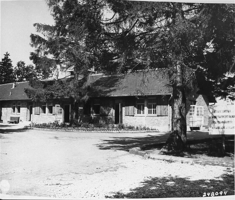 The crematoria in Dachau.