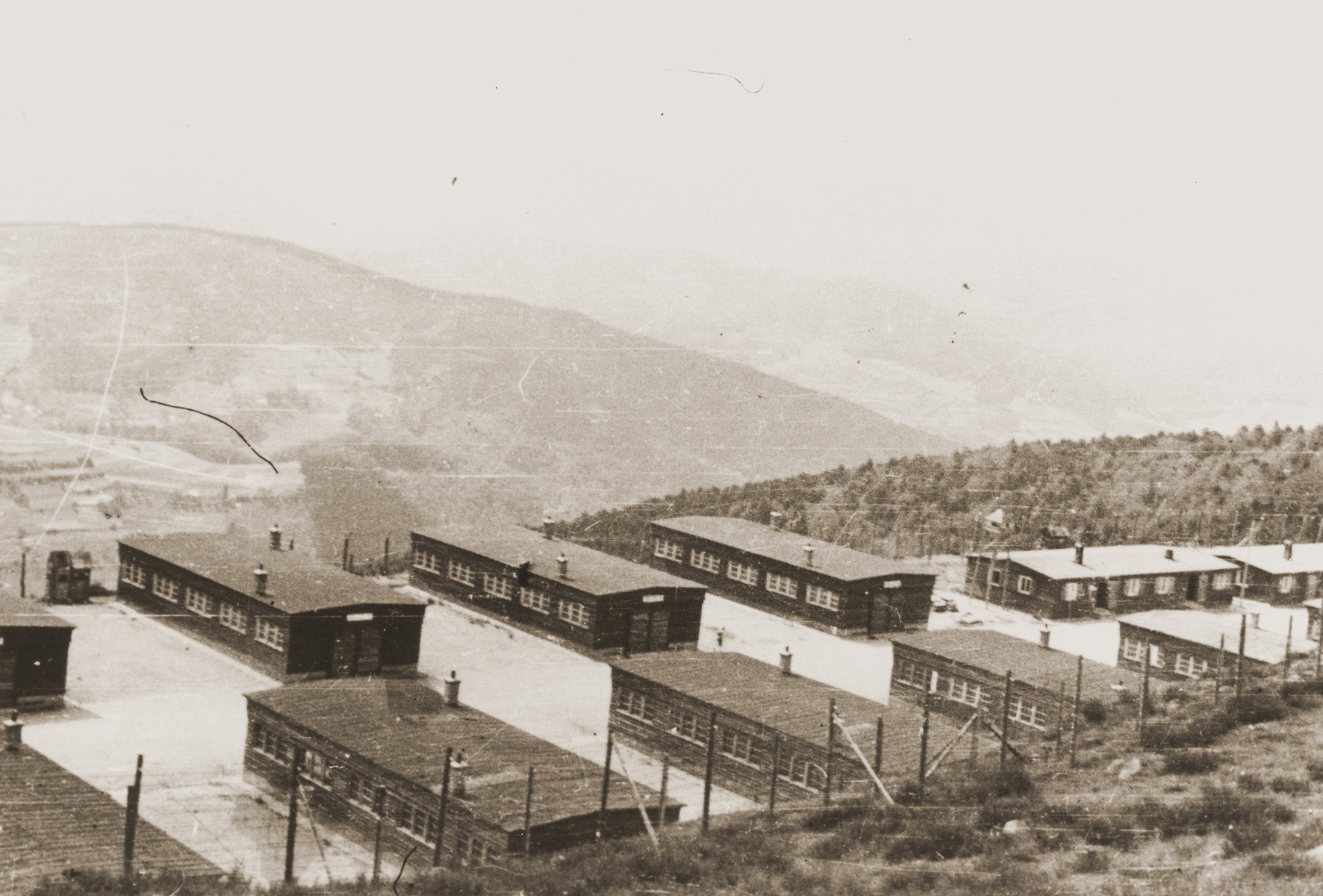 View of the Natzweiler concentration camp.