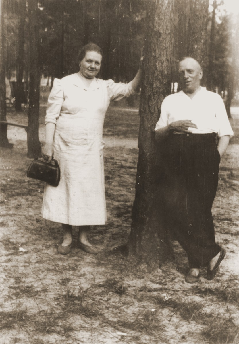 Pre-war photograph of rescuers Mikolei and Eva Turkin given to Salusia Goldblum in 1945 so she would always remember them.