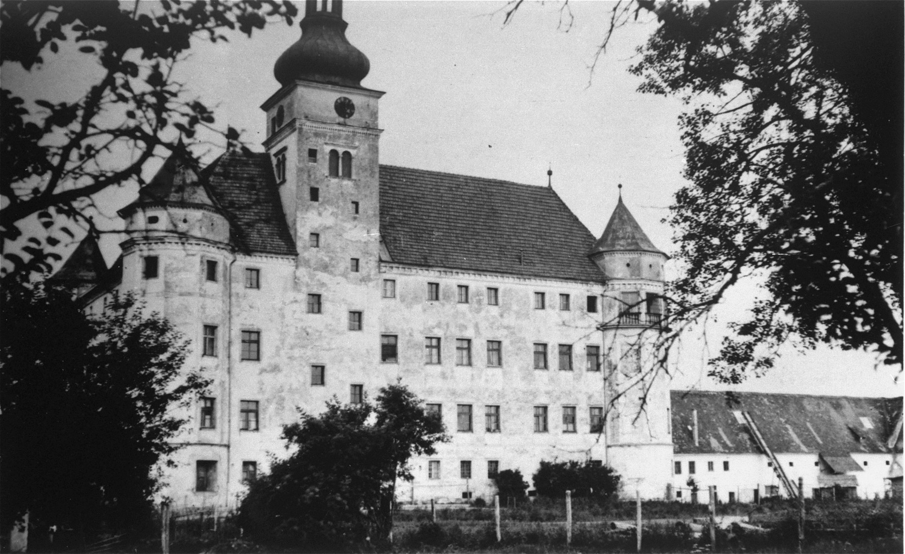 View of Hartheim castle.