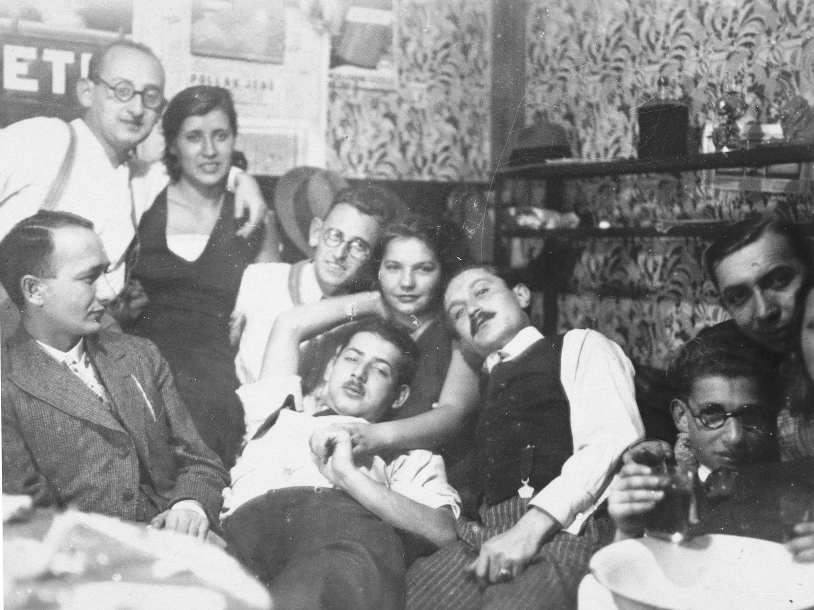 A group of Jewish friends gathers in an apartment in Kalocsa, Hungary.