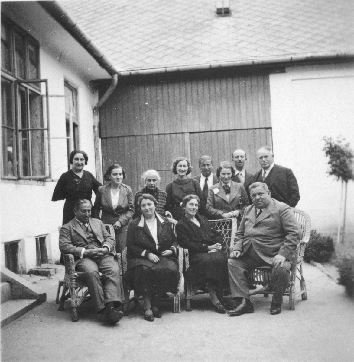 Group portrait of the extended Kalman family in Kalocsa, Hungary.