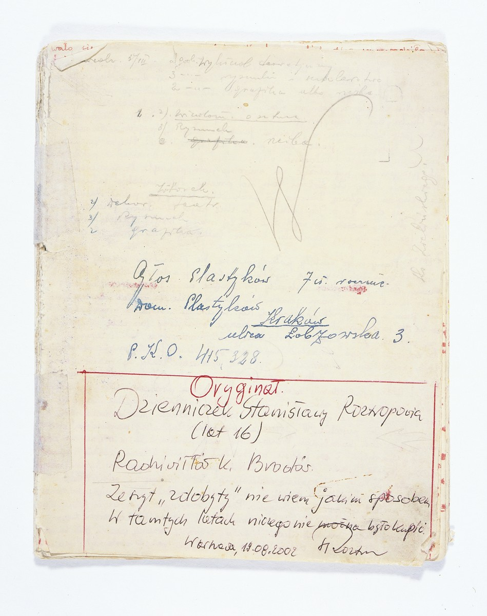 A page from a diary written by Stanislawa Roztropowicz that includes entries about Sabina Kagan, a Jewish child who was rescued by Stanislawa's parents.