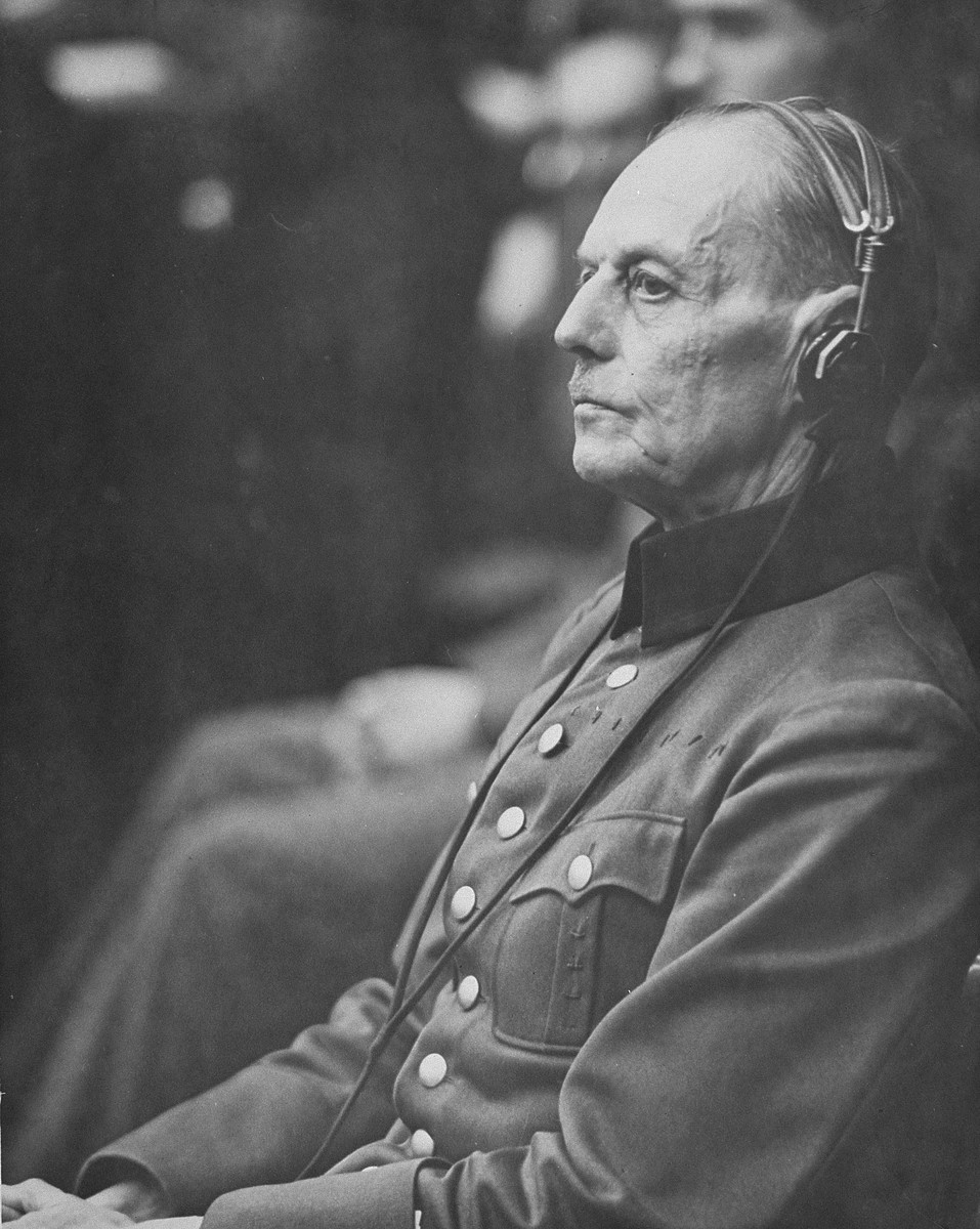 Close-up portrait of General Gerd von Rundstedt, (1875-1953).