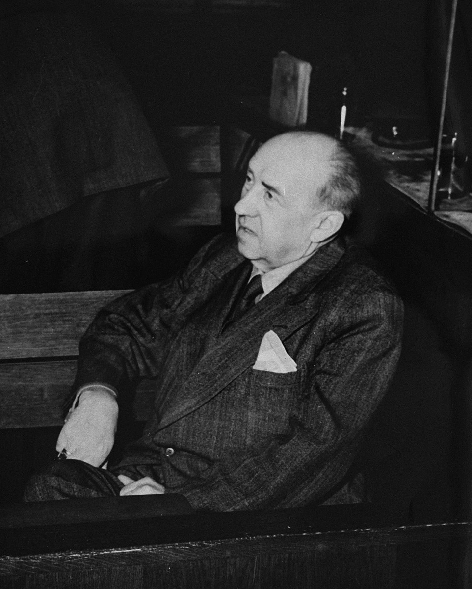 Walther Funk, the former Nazi minister of economics and president of the Reichsbank, a defendant at the International Military Tribunal trial of war criminals at Nuremberg.