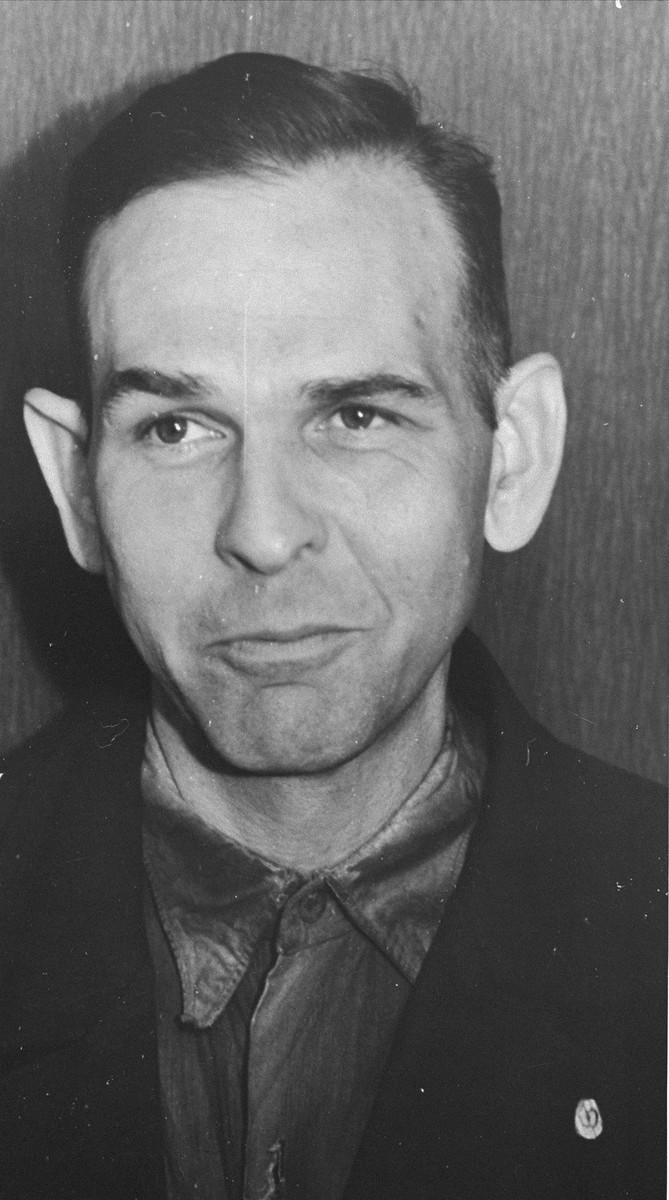 Portrait of Amon Goeth while in Polish custody as an accused war criminal.