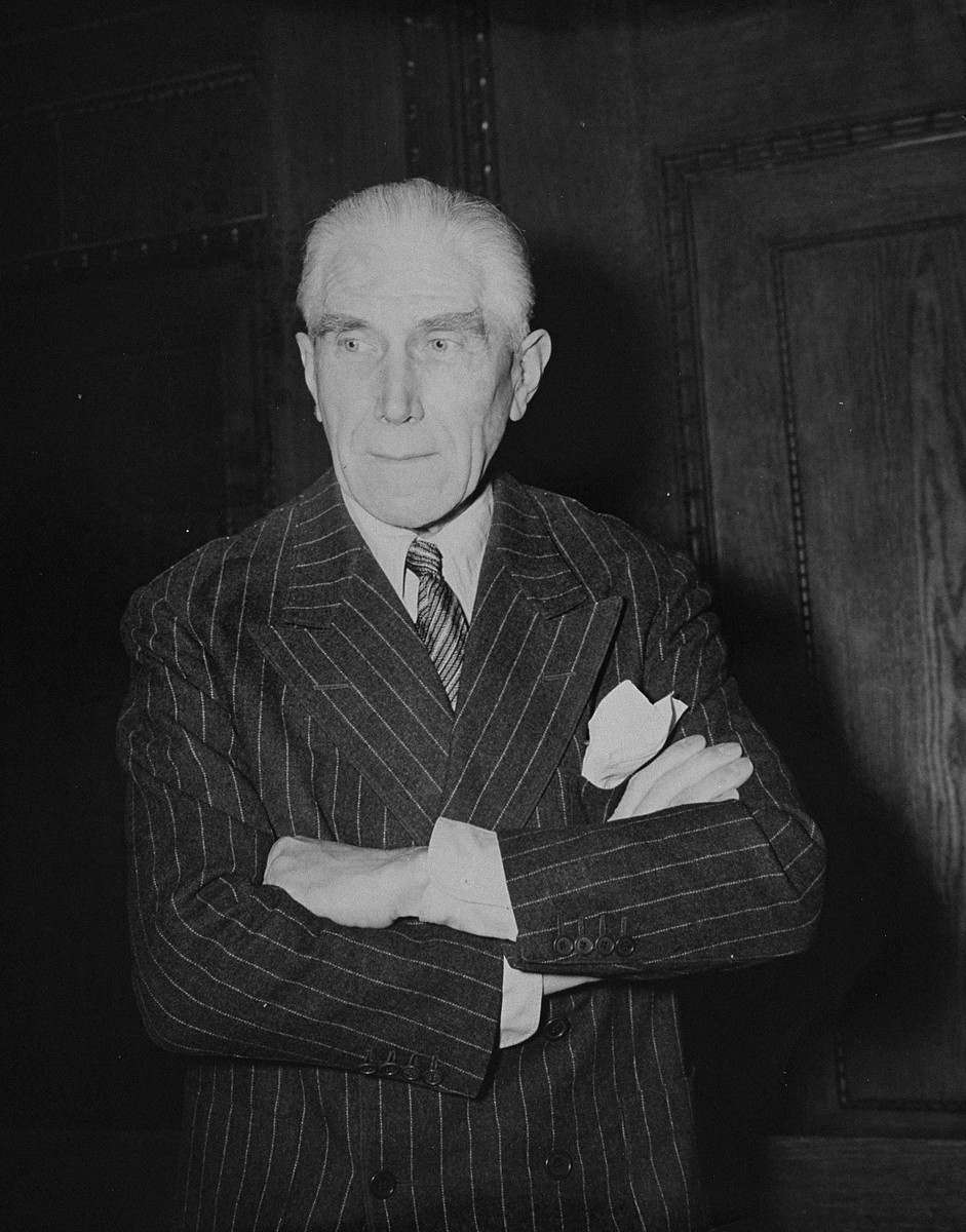 Former Vice-Chancellor Franz von Papen, a defendant at the International Military Tribunal trial of war criminals at Nuremberg.