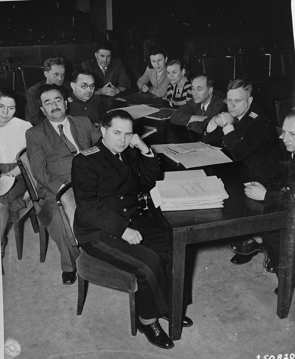 The Soviet prosecution team at the International Military Tribunal trial of war criminals at Nuremberg.