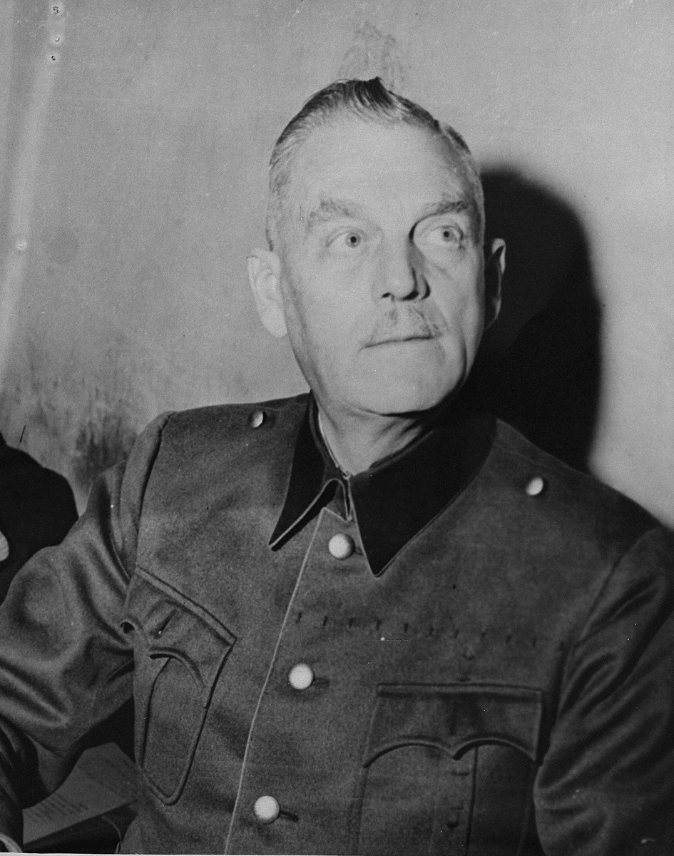 Defendant Wilhelm Keitel, the former Chief of the German Armed Forces, in his prison cell at the International Military Tribunal trial of war criminals at Nuremberg.