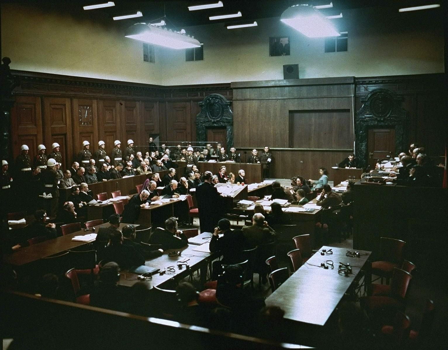 The International Military Tribunal trial of war criminals at Nuremberg.