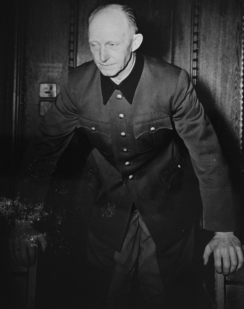 Former General and Chief of Staff of the Army Alfred Jodl, a defendant at the International Military Tribunal trial of war criminals at Nuremberg.