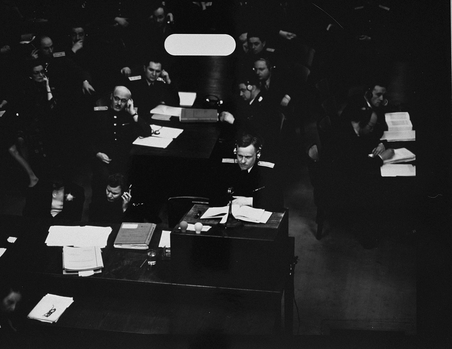 Soviet prosecutor Col. Leo N. Smirnov speaks at the International Military Tribunal trial of war criminals at Nuremberg.