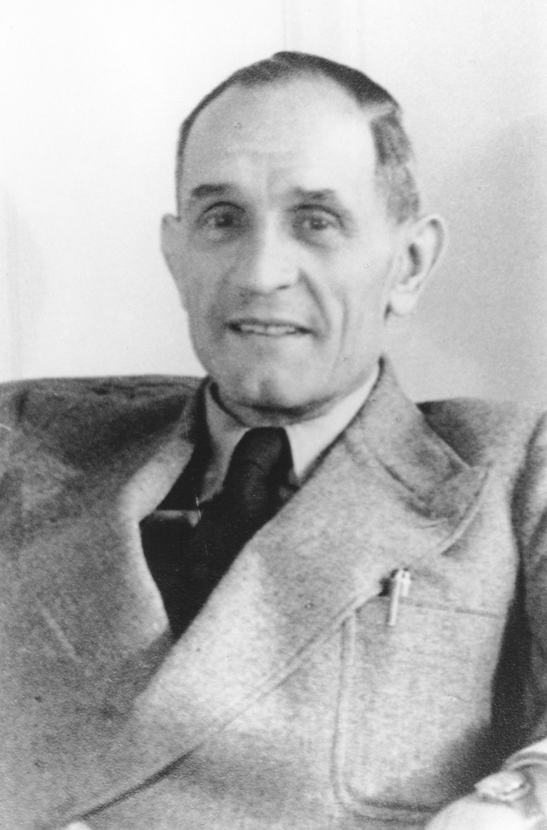 Portrait of Pastor Martin Niemoeller taken shortly after the liberation.