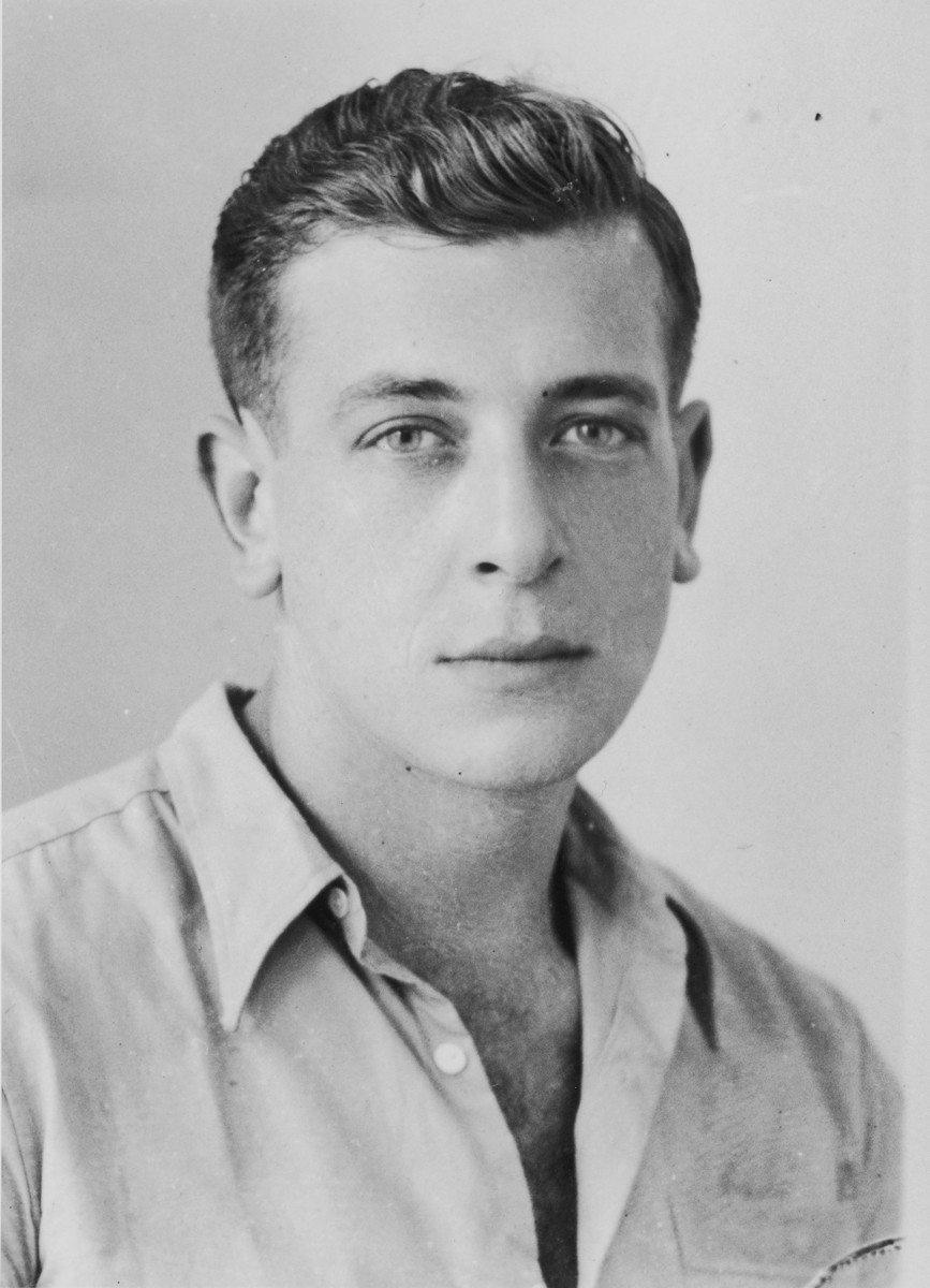 Portrait of Cyril Weinstein, an American crew member (third mate) of the illegal immigrant ship Exodus 1947.