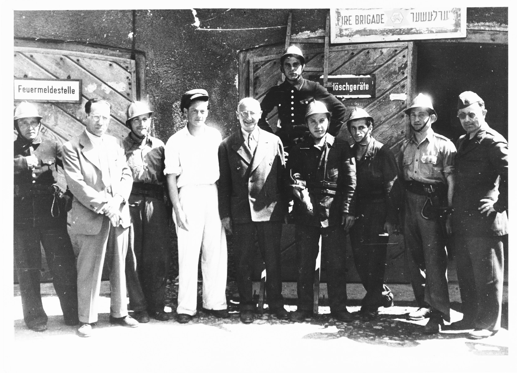 Issak Libstug visits the Foehrenwald fire department.