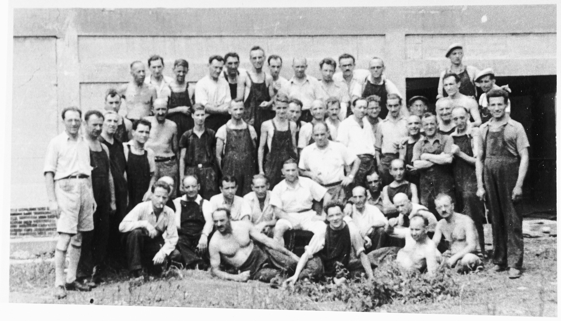 Jewish workmen in the Shanghai refugee colony.