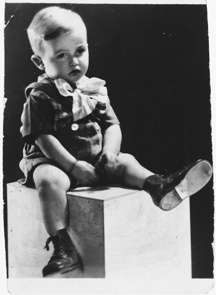 Portrait of Claude Hampel taken after liberation.