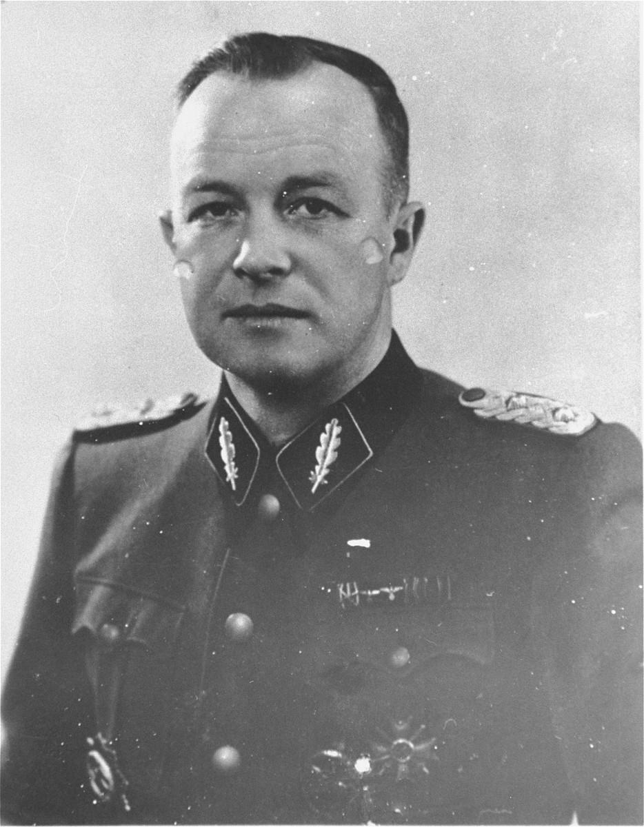 Portrait of SS Standartenfuehrer Franz Ziereis.