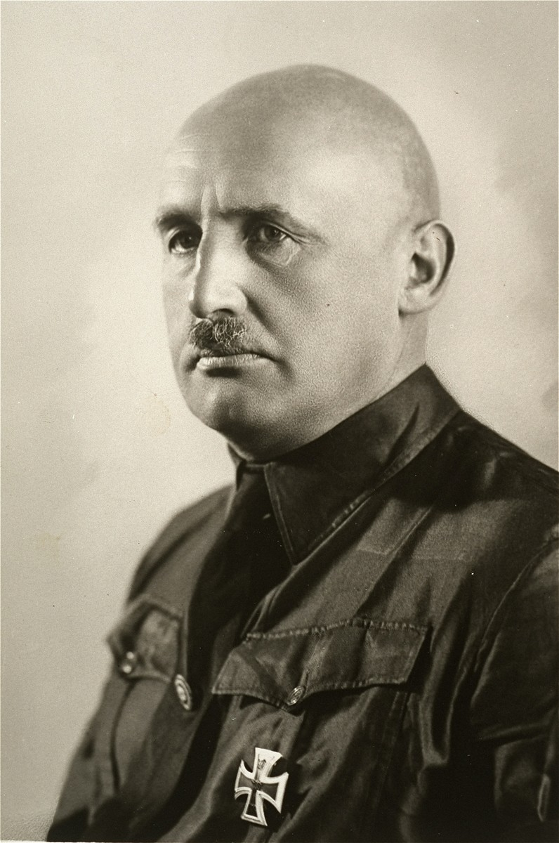 Portrait of Julius Streicher wearing his Nazi Party uniform.