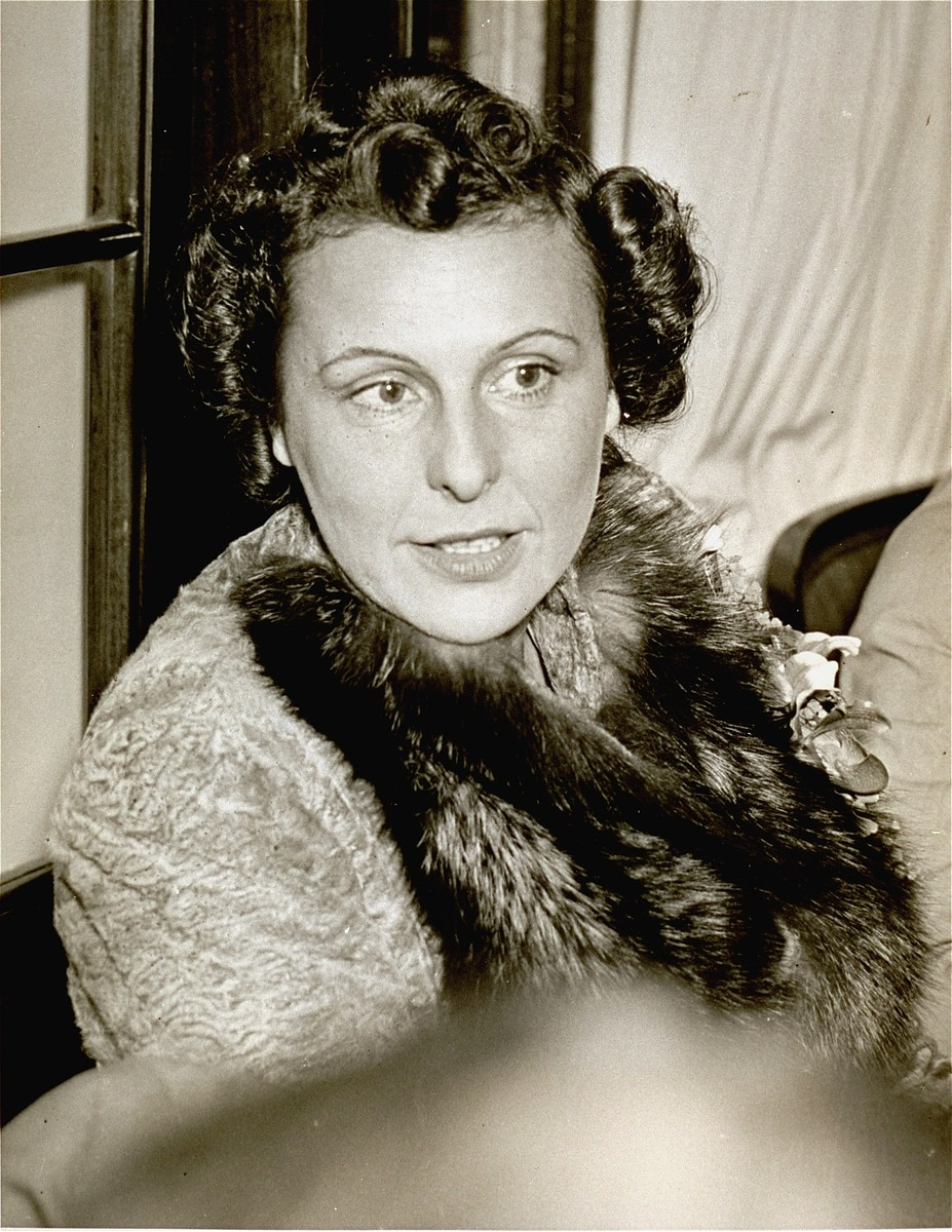 Portrait of Leni Riefenstahl.    The photo was found among papers in Julius Streicher's estate at Fuerth.  Also found were intimate letters from Streicher to Riefenstahl, in whom he had a romantic interest.
