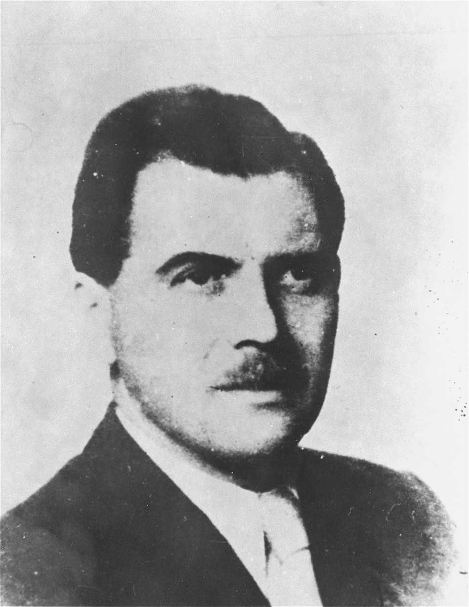 Portrait of Josef Mengele.