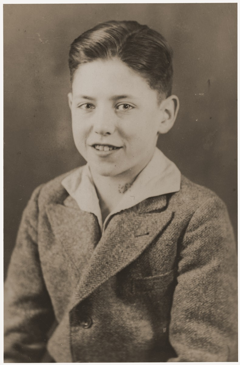 Portrait of Heinz Stephan Lewy taken near the time of his bar mitzvah.