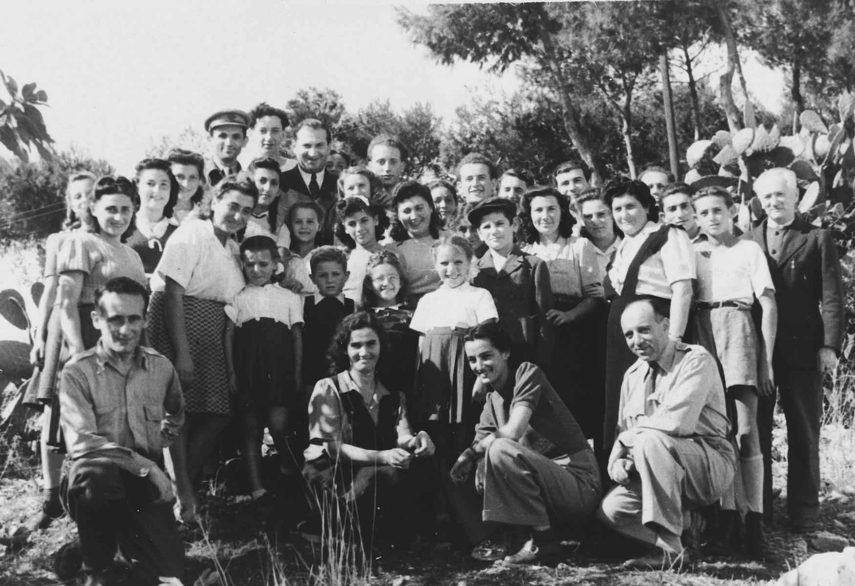 School children in the Santa Cesarea displaced persons' camp.