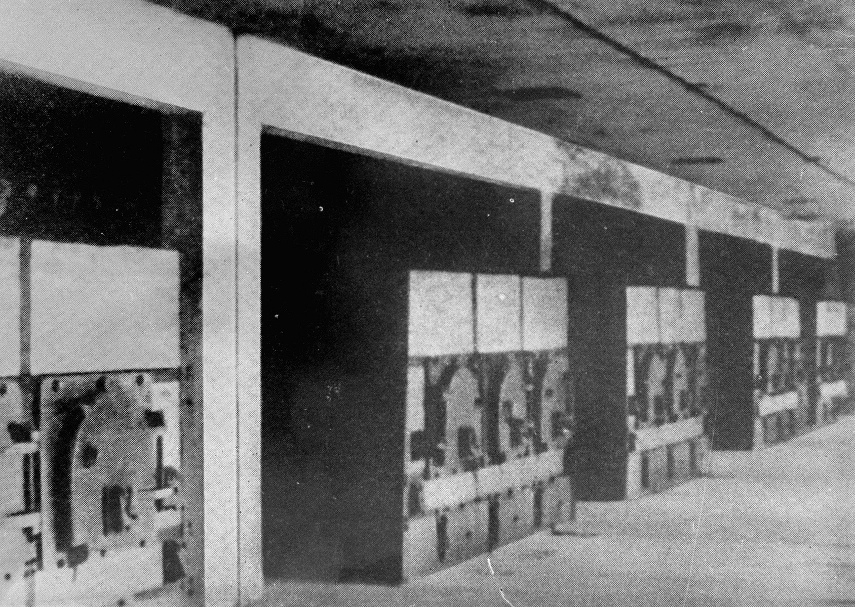 A row of ovens in one of the crematoria at Auschwitz.